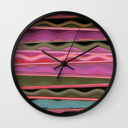 Tracking Magenta Wall Clock