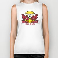 chicago bulls Biker Tanks featuring Red Bulls by Mountain Top Designs