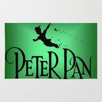 peter pan Area & Throw Rugs featuring Peter Pan  by MandiMccl