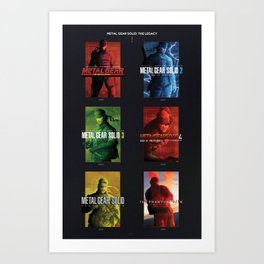 "Metal Gear Solid ""Legacy"" Tribute Poster Art Print"