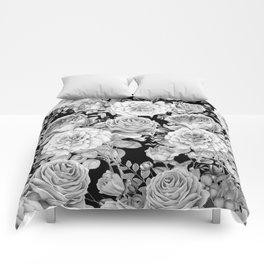 ROSES ON DARK BACKGROUND Comforters