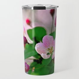 Crabapple flowers and buds. Outburst of life Travel Mug