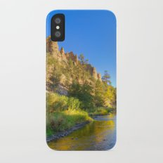 River and Cliffs iPhone X Slim Case