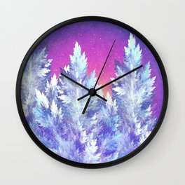 Winter's Night Wall Clock
