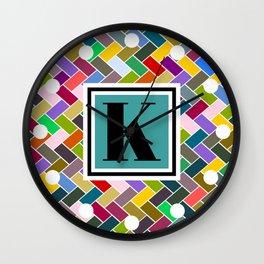 K Monogram Wall Clock