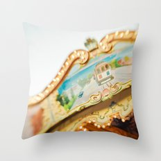 San Francisco Carousel Throw Pillow