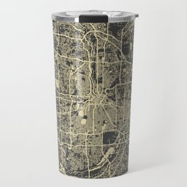 Minneapolis Map yellow Travel Mug