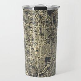 Minneapolis Map yellow Travel Mug