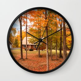 house in vermont Wall Clock