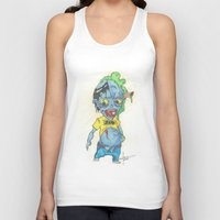 magic the gathering Tank Tops featuring Zombie Token - Magic the Gathering by Deadlance