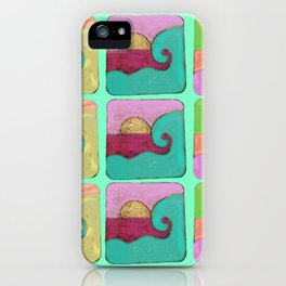waves hot curl iPhone Case