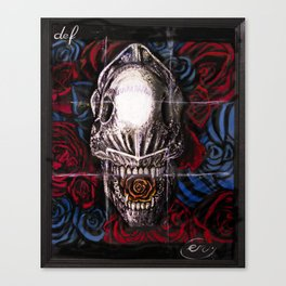Def Alien Skull Canvas Print