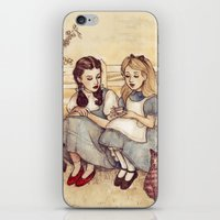 helen iPhone & iPod Skins featuring Dorothy and Alice by Helen Green