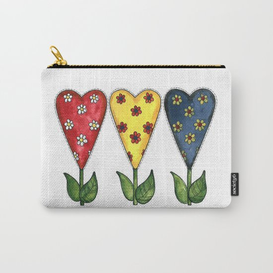 Hearts & Flowers Carry-All Pouch