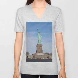 """Liberty Enlightening the World"" Unisex V-Neck"