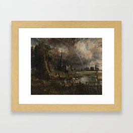John Constable,  The Opening of Waterloo Bridge ('Whitehall Stairs, June 18th, 1817') exhibited 1832 Framed Art Print