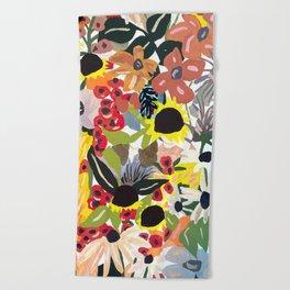 Flora Party Beach Towel