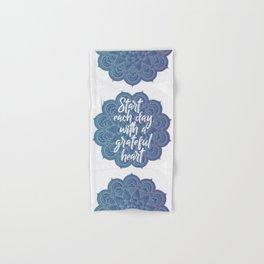 Gratitude Mandala Hand & Bath Towel