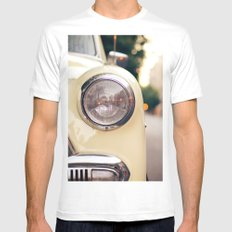 The car White Mens Fitted Tee MEDIUM