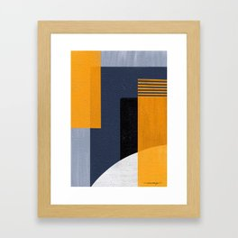 Abstract Geometric Space 1 Framed Art Print