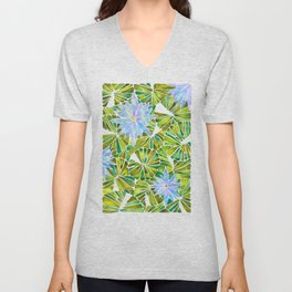 Water Lilies – Lavender & Green Palette Unisex V-Neck