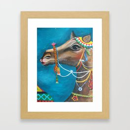 Camel in the Orient Framed Art Print