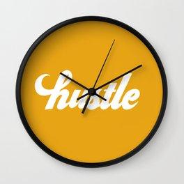 Hustle - Mustard Yellow Wall Clock