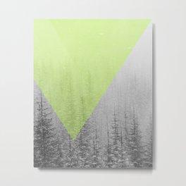 NEON NATURE | Green Metal Print