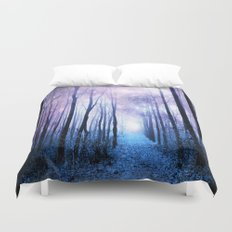 Fantasy Forest Path Duvet Cover