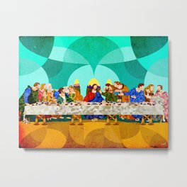 Curves - Last Supper Metal Print