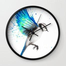 Tropical Oasis Bird Wall Clock