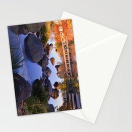 Hut and Bridge on Pond Stationery Cards