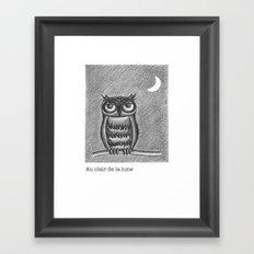 Au clair de la lune Framed Art Print