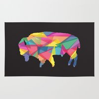 buffalo Area & Throw Rugs featuring Buffalo by Jake Martin
