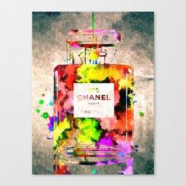 No 5 Grunge Canvas Print