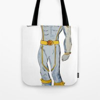 cyclops Tote Bags featuring Cyclops by colleencunha