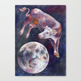 The Cow Jumped Over The Moon - III Canvas Print