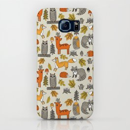 Woodland foxes rabbits deer owls cute pattern by andrea lauren iPhone Case