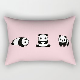 Three Pandas Rectangular Pillow