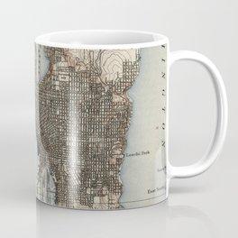 Vintage Map of Seattle Washington (1908) Coffee Mug
