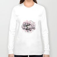 peony Long Sleeve T-shirts featuring Peony  by EllaJohnston Art & Illustration