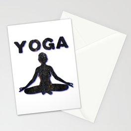 Yoga Meditating Female Stationery Cards
