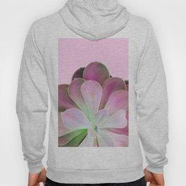 Acid Green and Pink Echeveria Hoody