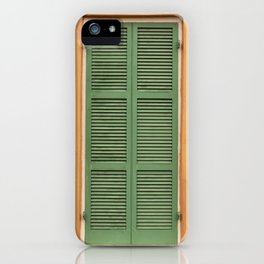 Green Shutters - Colorful Architecture in the New Orleans French Quarter iPhone Case