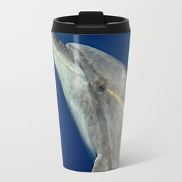 Making friends with a bottlenose dolphin Travel Mug