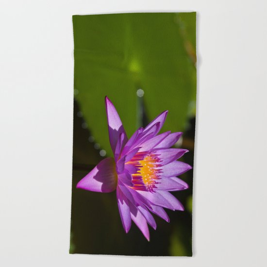 Lotus Beach Towel