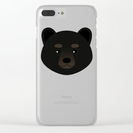 Black Bear Clear iPhone Case