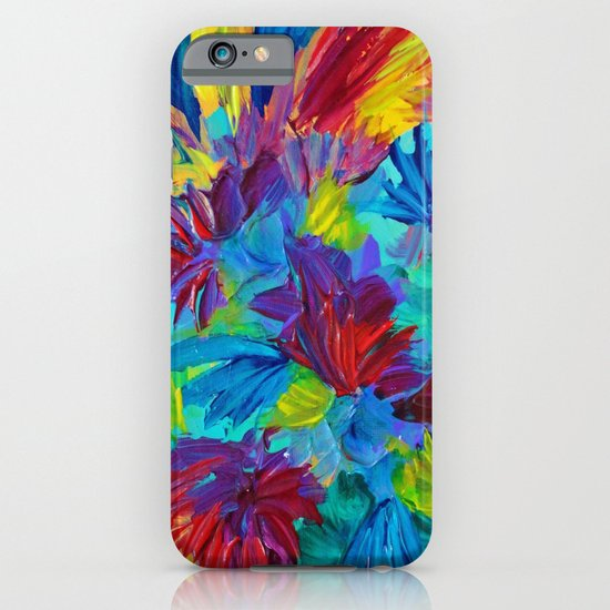 TUTTI FRUTTI - Fruit Punch Floral Bouquet Flowers Bright Bold Colorful Painting Romantic Rainbow iPhone & iPod Case