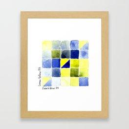 Color Chart - Lemon Yellow (DS) and Cobalt Blue (DS) Framed Art Print