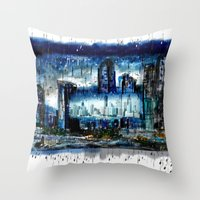 singapore Throw Pillows featuring Singapore  by sladja